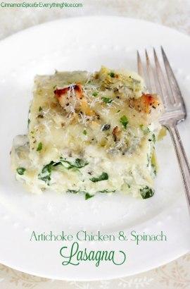 Artichoke-Chicken-and-Spinach-Lasagna