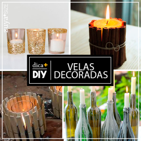 DIY- VELAS DECORADAS!