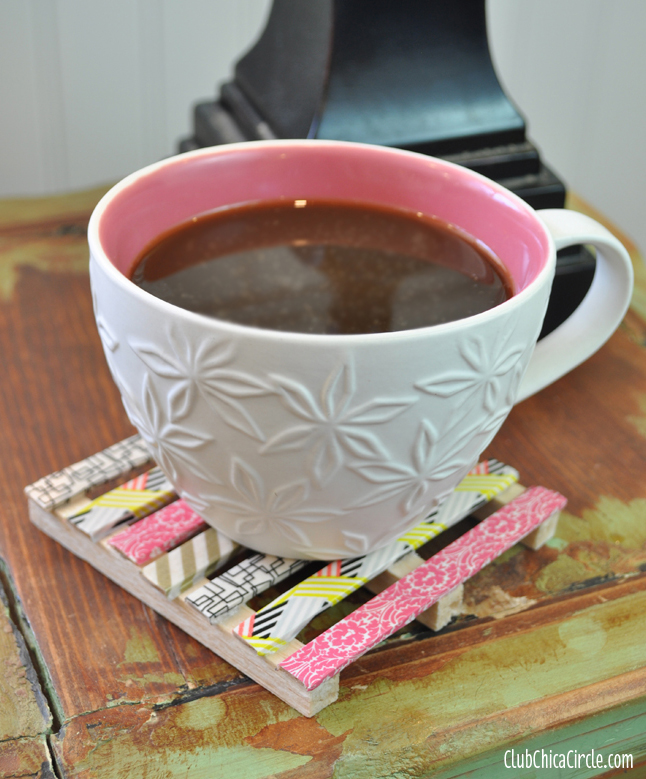 Washi-Tape-Mini-Pallet-Coaster-Craft-Idea